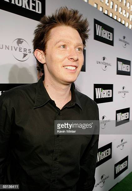 Singer Clay Aiken arrives at the Los Angeles Premiere of the Broadway musical Wicked at the Pantages Theatre on June 22 2005 in Hollywood California