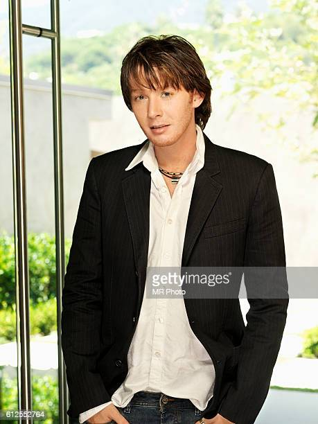 Singer Clay Aiken is photographed for People Magazine on August 30 2006 in Los Angeles California