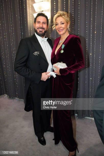 Singer Clemens Unterreiner and Nadja Swarovsk during the Opera Ball Vienna at Vienna State Opera on February 20, 2020 in Vienna, Austria.