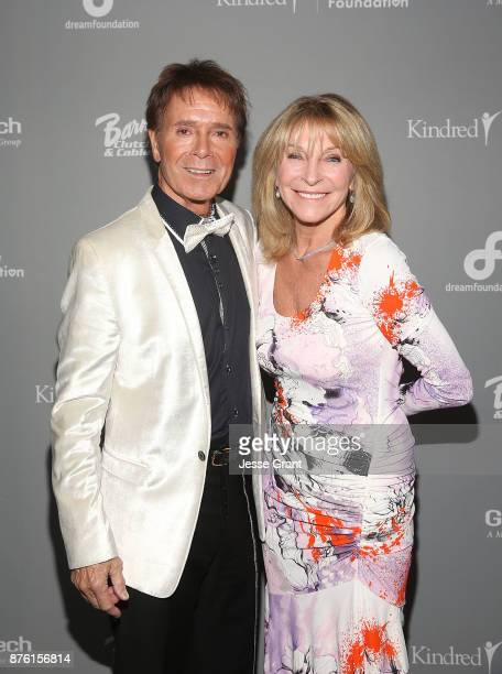 Singer Cliff Richard and Bonnie Lythgoe attend the Dream Foundation's 2017 Dreamland Gala at The RitzCarlton Bacara on November 18 2017 in Goleta...