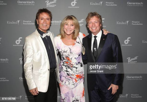 Singer Cliff Richard Bonnie Lythgoe and director Nigel Lythgoe attend the Dream Foundation's 2017 Dreamland Gala at The RitzCarlton Bacara on...