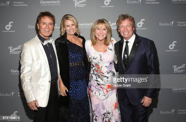 Singer Cliff Richard Dream Foundation CEO Kisa Heyer Bonnie Lythgoe and director Nigel Lythgo attend the Dream Foundation's 2017 Dreamland Gala at...