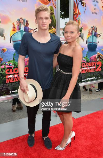 Singer Cody Simpson and actress Alli Simpson arrives to the premiere of Columbia Pictures and Sony Pictures Animation's Cloudy With A Chance of...