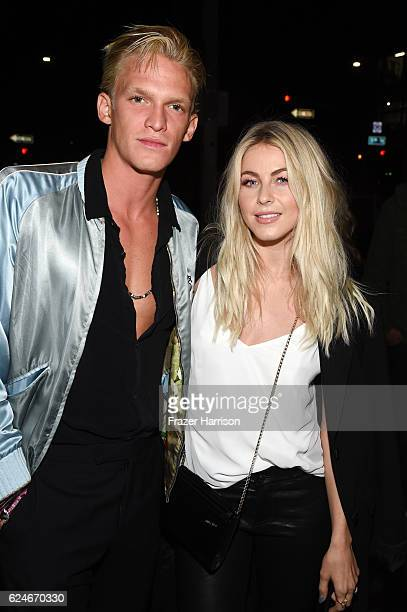 Singer Cody Simpson and actress/dancer Julianne Hough attends Open Spotlight at The Oasis during Airbnb Open LA Day 3 on November 19 2016 in Los...