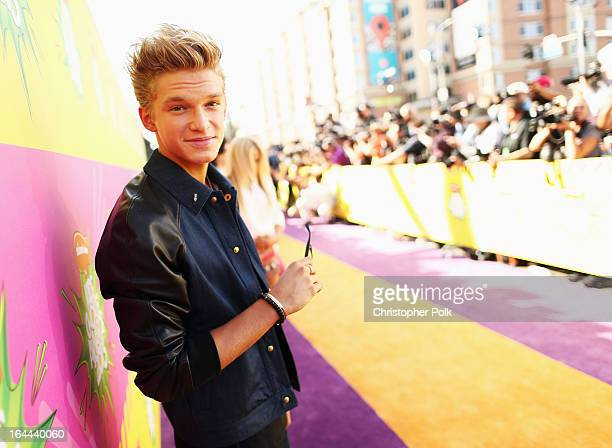 Singer Cody Simpson arrives at Nickelodeon's 26th Annual Kids' Choice Awards at USC Galen Center on March 23 2013 in Los Angeles California