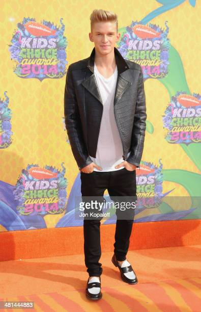 Singer Cody Simpson arrives at Nickelodeon's 27th Annual Kids' Choice Awards at USC Galen Center on March 29 2014 in Los Angeles California