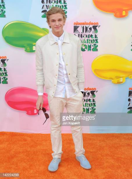 Singer Cody Simpson arrives at the 2012 Nickelodeon's Kids' Choice Awards held at the Galen Center on March 31 2012 in Los Angeles California
