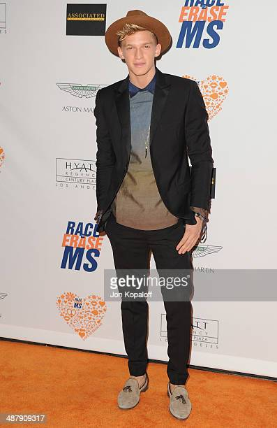Singer Cody Simpson arrives at the 21st Annual Race To Erase MS Gala at the Hyatt Regency Century Plaza on May 2, 2014 in Century City, California.