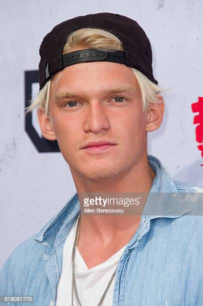 Singer Cody Simpson arrives at the iHeartRadio Music Awards at The Forum on April 3 2016 in Inglewood California