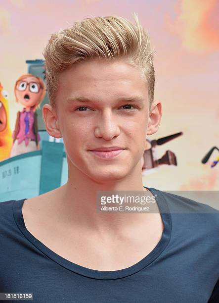 "Singer Cody Simpson arrives to the premiere of Columbia Pictures and Sony Pictures Animation's ""Cloudy With A Chance of Meatballs 2"" at the Regency..."