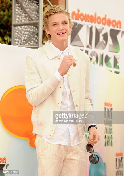 Singer Cody Simpson attends Nickelodeon's 25th Annual Kids' Choice Awards held at Galen Center on March 31 2012 in Los Angeles California