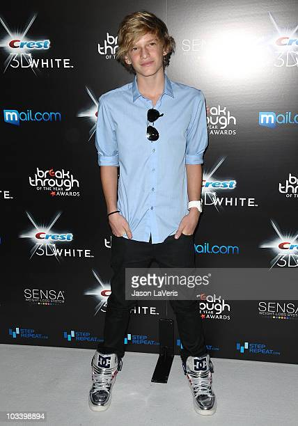 Singer Cody Simpson attends the 2010 Breakthrough of the Year Awards at Pacific Design Center on August 15 2010 in West Hollywood California