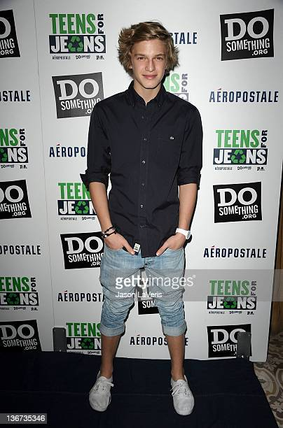 Singer Cody Simpson attends the 5th annual 'Teens For Jeans' event at Palihouse Holloway on January 10 2012 in West Hollywood California