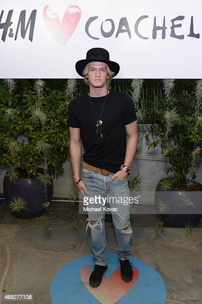 Singer Cody Simpson attends the Official HM Loves Coachella Party at the Parker Palm Springs on April 10 2015 in Palm Springs California