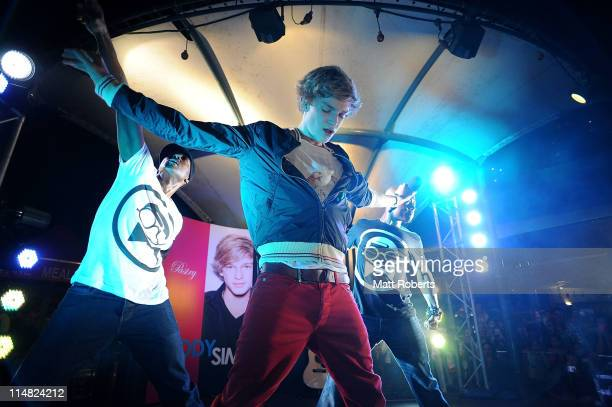 Singer Cody Simpson performs on stage for fans at a promotion for Footlocker and Pastry Footwear on May 27 2011 in Gold Coast Australia