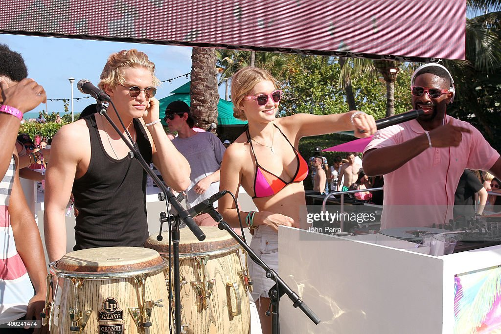 Singer Cody Simpson Victorias Secret PINK Model Gigi Hadid And DJ Irie Attend The Ultimate