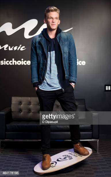 Singer Cody Simpson visits Music Choice on January 21 2014 in New York City