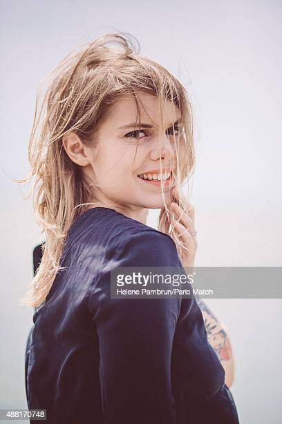 Singer Coeur de Pirate aka Beatrice Martin is photographed for Paris Match on July 12 2015 in La Rochelle France