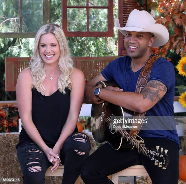 Singer Coffey Anderson and wife Criscilla Crossland Anderson attend Hallmark's Home Family at Universal Studios Hollywood on October 10 2017 in...
