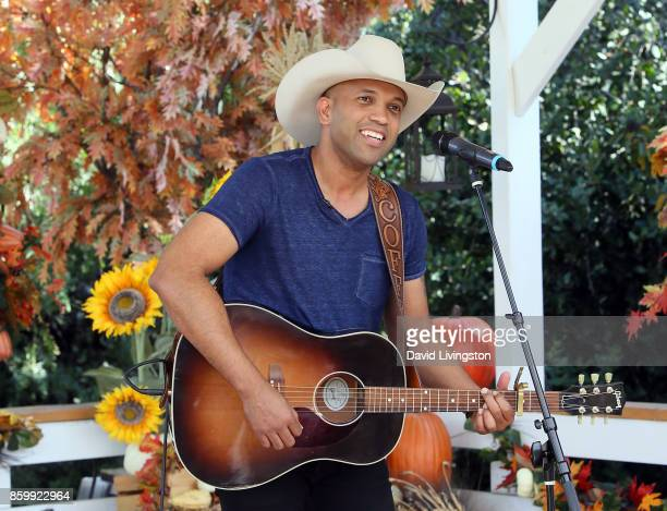 Singer Coffey Anderson performs at Hallmark's Home Family at Universal Studios Hollywood on October 10 2017 in Universal City California