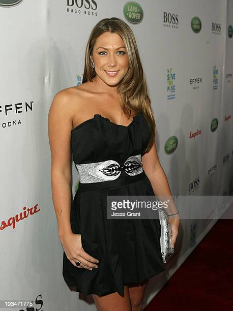 Singer Colbie Cailiat arrives at VH1 Save The Music Foundation and Esquire Magazine Benefit held at Esquire House on October 25 2008 in Los Angeles...