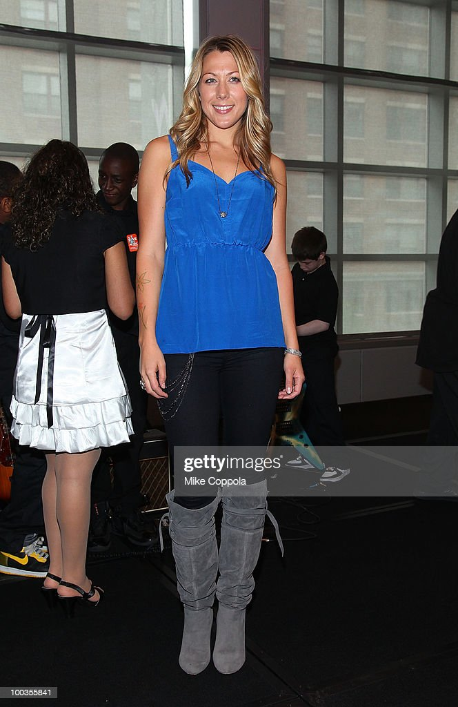 Singer Colbie Caillat attends the VH1 Save The Music Foundation Summer Kick-Off Party benefit at the W Hoboken on May 23, 2010 in Hoboken, New Jersey.