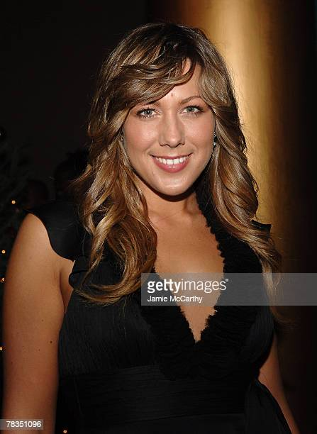 Singer Colbie Caillat poses backstage during TNT's Christmas in Washington 2007 at the National Building Museum on December 9 2007 in Washington DC...