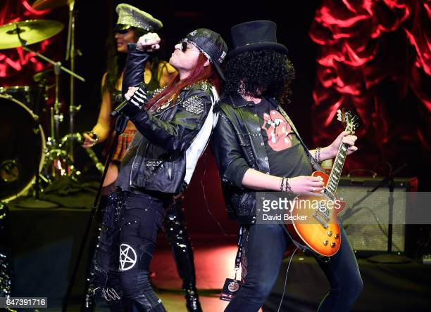 Singer Colby Veil of Rock Fantasy performs during the ninth annual Fighters Only World Mixed Martial Arts Awards at The Venetian Las Vegas on March 2...