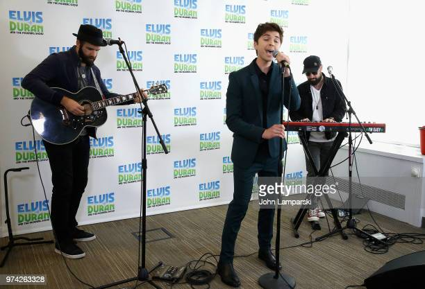 Singer Cole Redding Greg Mayo and David Farrell Melton perform during 'The Elvis Duran Z100 Morning Show' at Z100 Studio on June 14 2018 in New York...