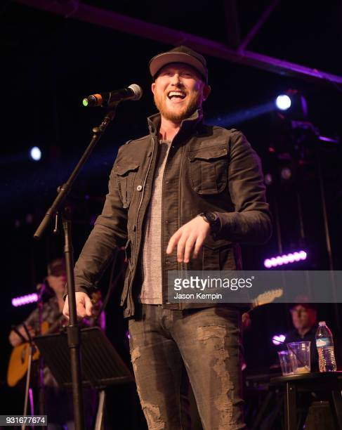 Singer Cole Swindell performs at Marathon Music Works on March 13 2018 in Nashville Tennessee
