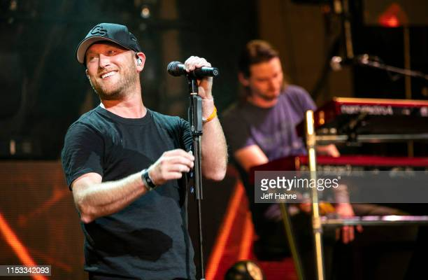 Singer Cole Swindell performs at PNC Music Pavilion on June 2 2019 in Charlotte North Carolina