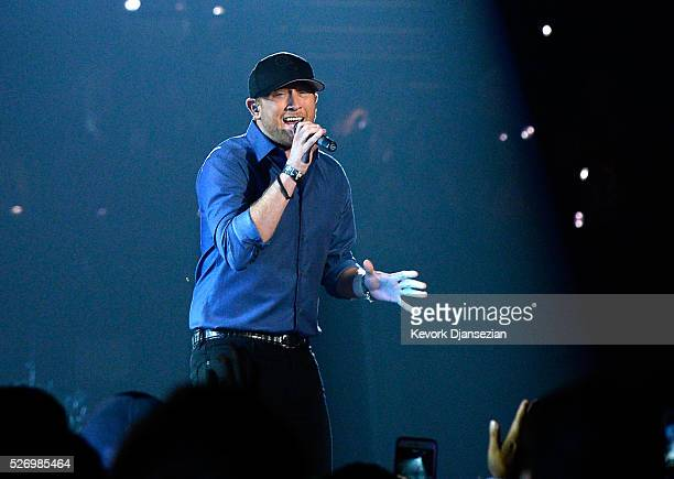 Singer Cole Swindell performs onstage during the 2016 American Country Countdown Awards at The Forum on May 1 2016 in Inglewood California