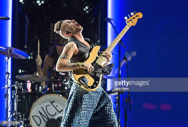 Singer Cole Whittle of DNCE performs in concert at the Frank Erwin Center on June 17 2016 in Austin Texas