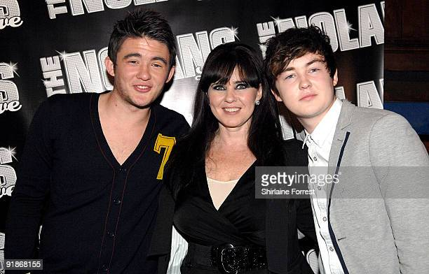 Singer Coleen Nolan and sons Shane Richie Jr and Jake Richie attend The Nolans Aftershow party at Via on October 13 2009 in Manchester England
