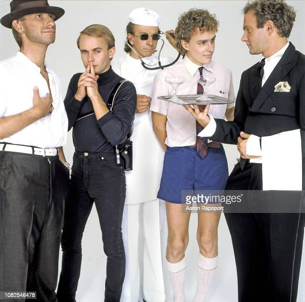 Singer Colin Hay and the group Men At Work pose for a portrait circa 1983 in Melbourne Australia