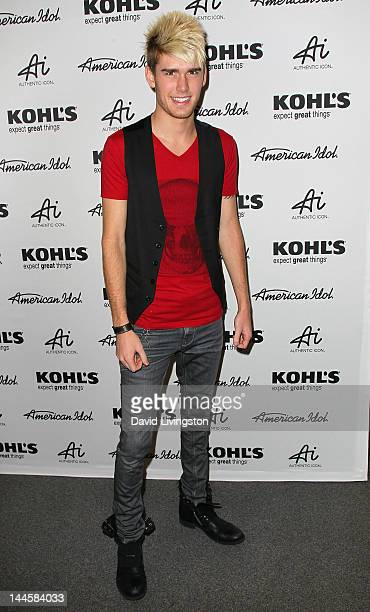 Singer Colton Dixon attends the American Idol's Authentic Icon Collection for Kohl's fan event at Kohl's Department Store on May 16 2012 in Alhambra...