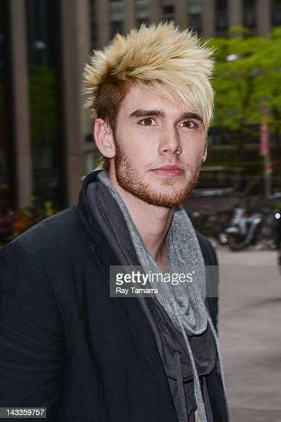 Singer Colton Dixon leaves the Sirius XM Studios on April 24 2012 in New York City