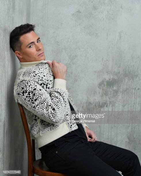 Singer Colton Haynes poses in the 2018 iHeartRADIO MuchMusic Video Awards Portrait Studio at MuchMusic HQ on August 26 2018 in Toronto Canada