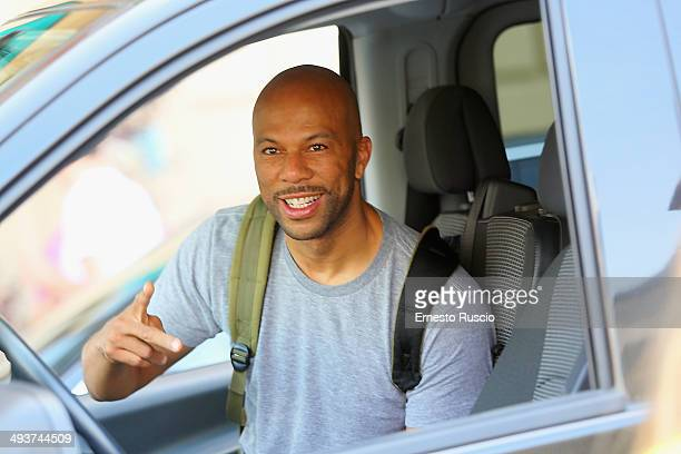 Singer Common sighting after the Wedding Of Kim Kardashian And Kanye West In Florence at Excelsior Hotel on May 25 2014 in Florence Italy