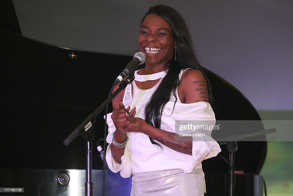 Singer Concha Buika attends the Latin GRAMMY Acoustic Session at Country Club de Bogota on August 21, 2013 in Bogota, Colombia.