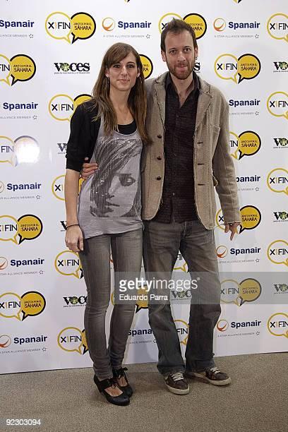 Singer Conchita and actor Edu Soto attend X1Fin Juntos por el Sahara photocall at Lectors Circle on October 23 2009 in Madrid Spain