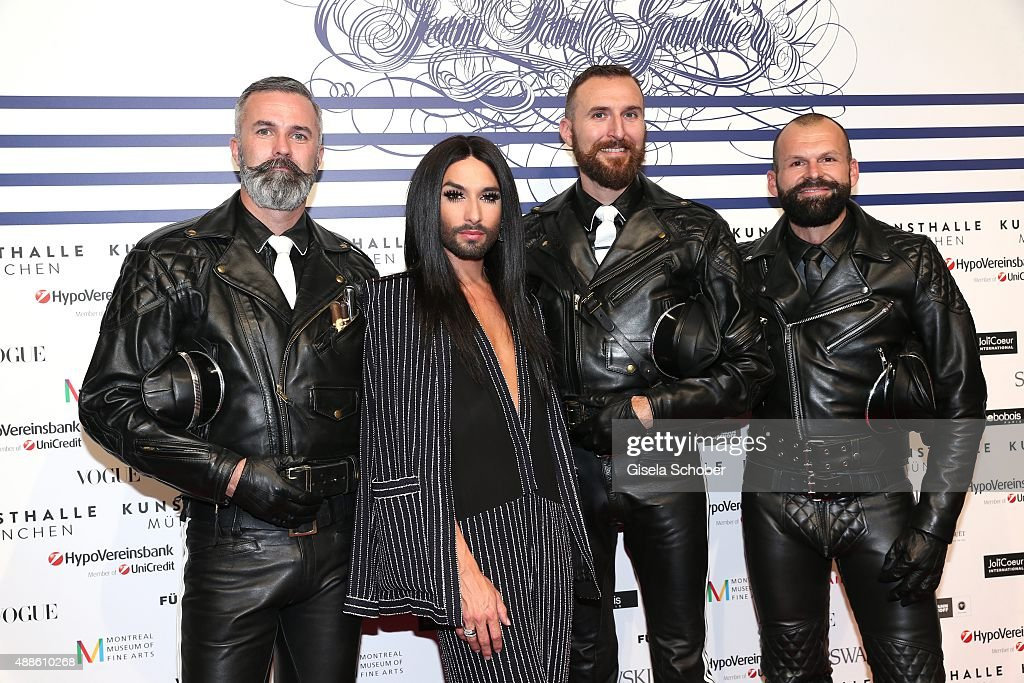 Jean Paul Gaultier 'From The Sidewalk To The Catwalk' Exhibition Opening In Munich : News Photo