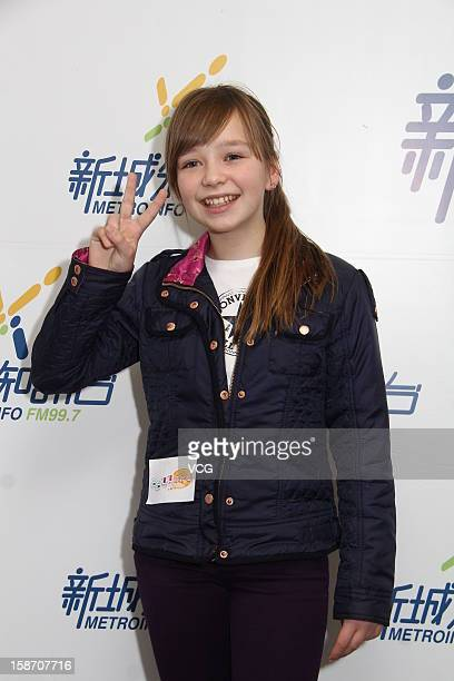 Singer Connie Talbot attends a press conference at MetroInfo on December 24 2012 in Hong Kong Hong Kong