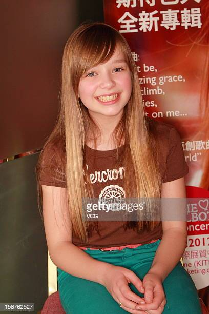 Singer Connie Talbot attends a press conference to promote her concert on December 27 2012 in Hong Kong