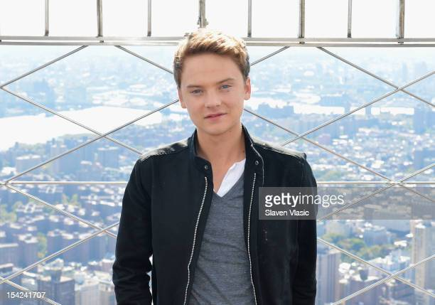 Singer Conor Maynard visits The Empire State Building on October 16 2012 in New York City