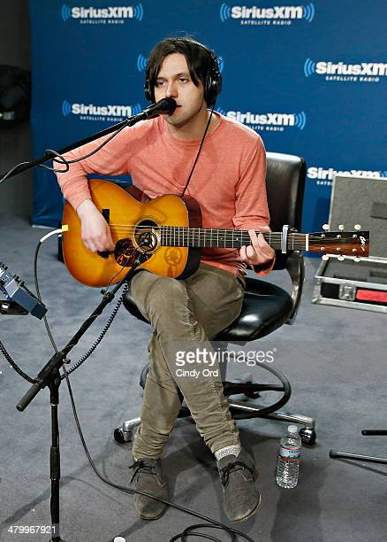 Singer Conor Oberst performs at the SiriusXM Studios on March 21, 2014 in New York City.