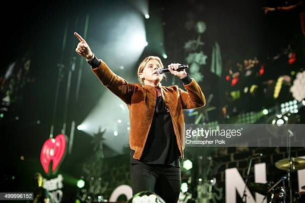 Singer Conrad Sewell performs onstage during 1027 KIIS FM's Jingle Ball 2015 Presented by Capital One at STAPLES CENTER on December 4 2015 in Los...