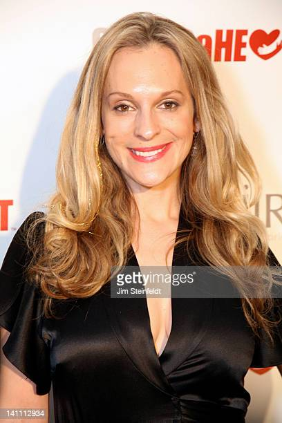 Singer Consuelo Venderbilt Costin poses on the red carpet at The Guard A Heart tribute to Larry King at the Avalon Ballroom in Hollywood California...