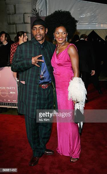 Singer Coolio and wife Josefa Salinas arrive at The London Party at the Spencer House on February 18 2006 in London England