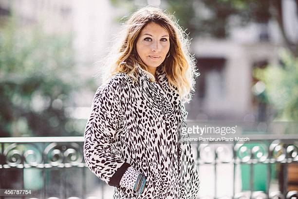 Singer Coralie Clement is photographed for Paris Match on September 22 2014 in Paris France